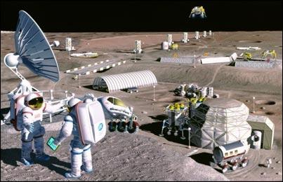 In anul 2020 vor exista case pe Luna Moon-colony